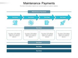 Maintenance Payments Ppt Powerpoint Presentation Slides Objects Cpb