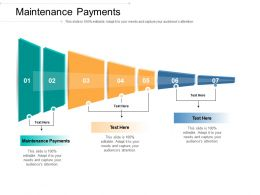 Maintenance Payments Ppt Powerpoint Presentation Summary Graphics Cpb