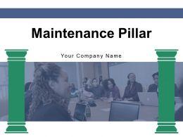 Maintenance Pillar Autonomous Improvement Organization Optimization Productive