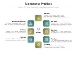 Maintenance Practices Ppt Powerpoint Presentation Icon Samples Cpb