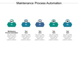 Maintenance Process Automation Ppt Powerpoint Presentation Show Slide Download Cpb