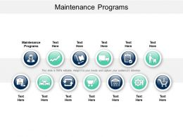 Maintenance Programs Ppt Powerpoint Presentation Images Cpb