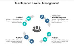Maintenance Project Management Ppt Powerpoint Presentation Show Cpb