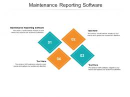 Maintenance Reporting Software Ppt Powerpoint Presentation Inspiration Smartart Cpb