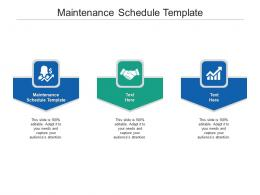 Maintenance Schedule Template Ppt Powerpoint Presentation Visual Aids Background Images Cpb