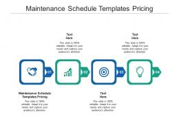 Maintenance Schedule Templates Pricing Ppt Powerpoint Presentation Styles Visual Aids Cpb