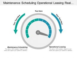 Maintenance Scheduling Operational Leasing Real Estate Capital Management