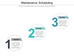 Maintenance Scheduling Ppt Powerpoint Presentation Icon Vector Cpb
