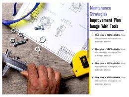 Maintenance Strategies Improvement Plan Image With Tools