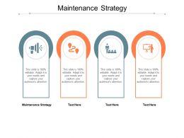 Maintenance Strategy Ppt Powerpoint Presentation Portfolio Deck Cpb