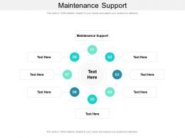Maintenance Support Ppt Powerpoint Presentation Layouts Examples Cpb