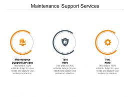 Maintenance Support Services Ppt Powerpoint Presentation Portfolio Shapes Cpb