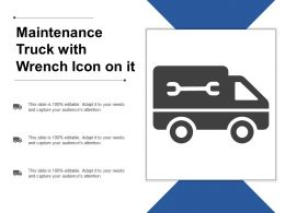 Maintenance Truck With Wrench Icon On It