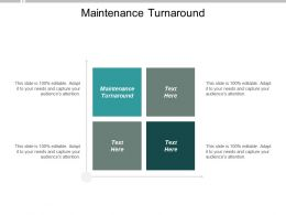 Maintenance Turnaround Ppt Powerpoint Presentation Inspiration Show Cpb