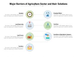 Major Barriers Of Agriculture Sector And Their Solutions