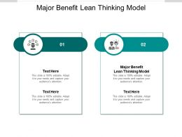 Major Benefit Lean Thinking Model Ppt Powerpoint Presentation File Cpb
