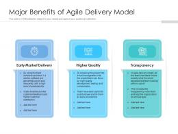 Major Benefits Of Agile Delivery Model
