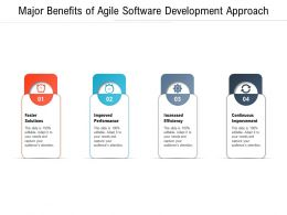 Major Benefits Of Agile Software Development Approach