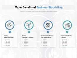 Major Benefits Of Business Storytelling