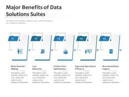 Major Benefits Of Data Solutions Suites