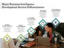 Major Business Intelligence Development Service Differentiators