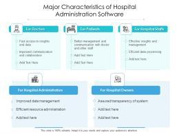 Major Characteristics Of Hospital Administration Software