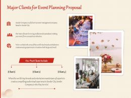 Major Clients For Event Planning Proposal Ppt Powerpoint Presentation Infographic