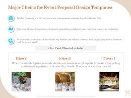 Major Clients For Event Proposal Design Templates Ppt File Design