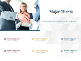 Major Clients Opportunity Ppt Powerpoint Presentation Professional