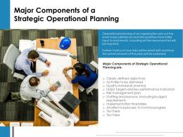 Major Components Of A Strategic Operational Planning