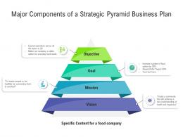 Major Components Of A Strategic Pyramid Business Plan