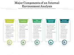 Major Components Of An Internal Environment Analysis