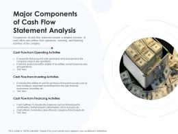 Major Components Of Cash Flow Statement Analysis