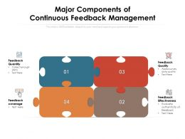 Major Components Of Continuous Feedback Management