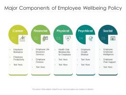 Major Components Of Employee Wellbeing Policy