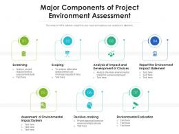Major Components Of Project Environment Assessment