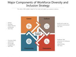 Major Components Of Workforce Diversity And Inclusion Strategy