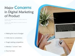 Major Concerns In Digital Marketing Of Product