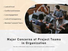 Major Concerns Of Project Teams In Organization