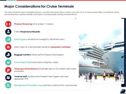 Major Considerations For Cruise Terminals Ppt Powerpoint Presentation Professional Example