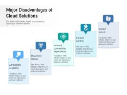 Major Disadvantages Of Cloud Solutions
