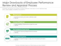 Major Drawbacks Of Employee Performance Review And Appraisal Process