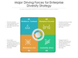 Major Driving Forces For Enterprise Diversity Strategy