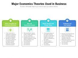 Major Economics Theories Used In Business