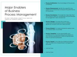 Major Enablers Of Business Process Management