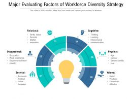 Major Evaluating Factors Of Workforce Diversity Strategy