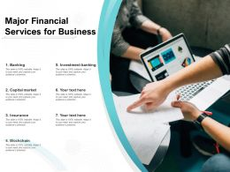 Major Financial Services For Business
