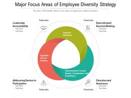Major Focus Areas Of Employee Diversity Strategy