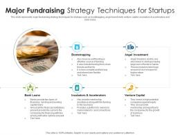 Major Fundraising Strategy Techniques For Startups