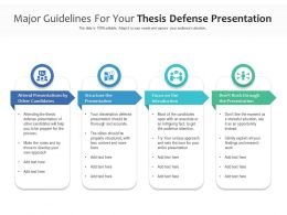 Major Guidelines For Your Thesis Defense Presentation